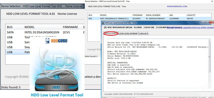 HDDGURU HDD Low Level Format Tool